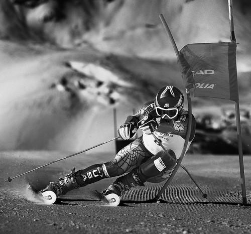 bode miller gs race training head skis a stunning shot