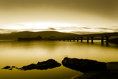 Sepia Glass Lake | by conmike12
