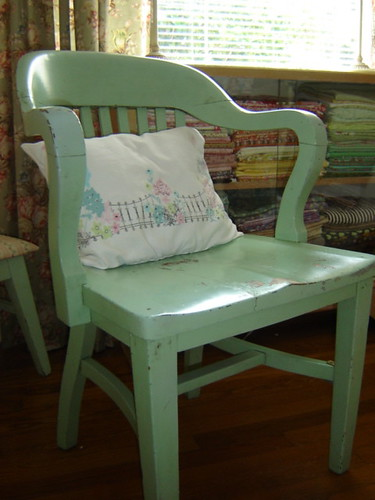 mint green library chair | by fort and field