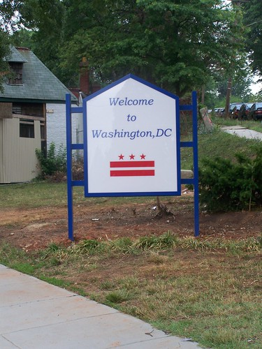 Welcome to Washington, DC at Rhode Island & Eastern Avenue NE