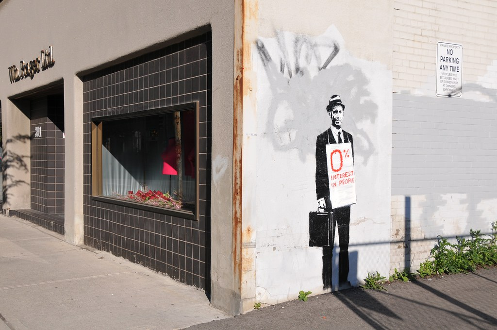 0% INTEREST IN PEOPLE - 0% INTEREST IN BANKSY