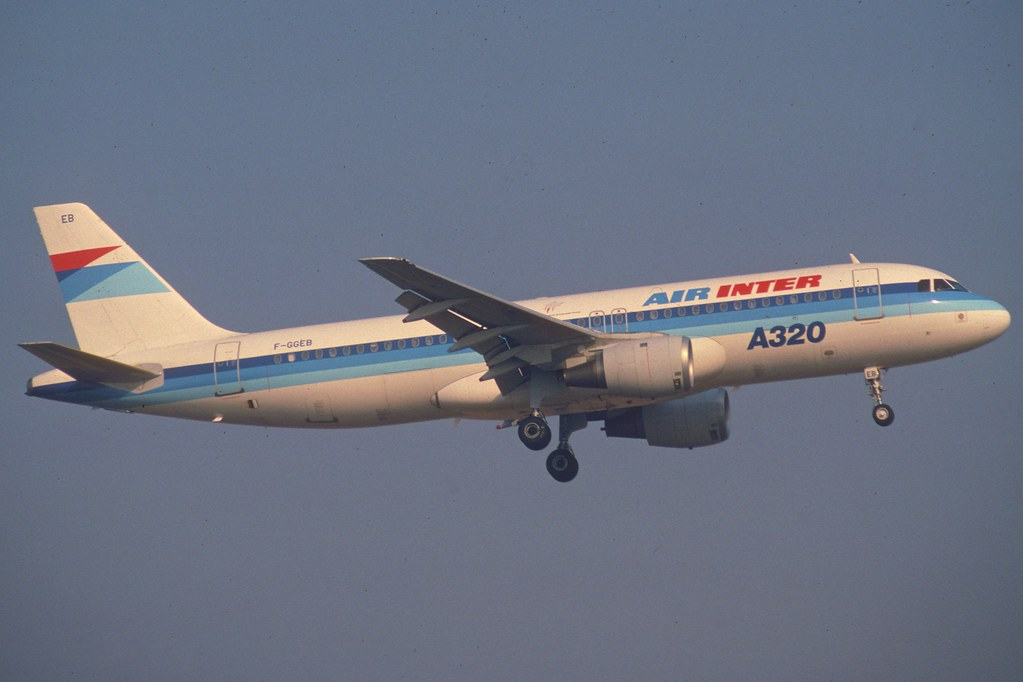 Air Inter Airbus A320-100; F-GGEB@ORY, September 1989