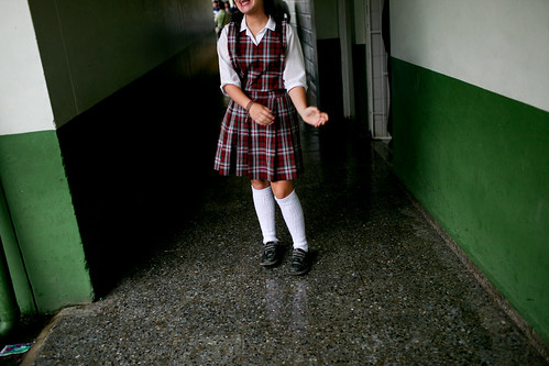Walking through hallways in between class | by World Bank Photo Collection