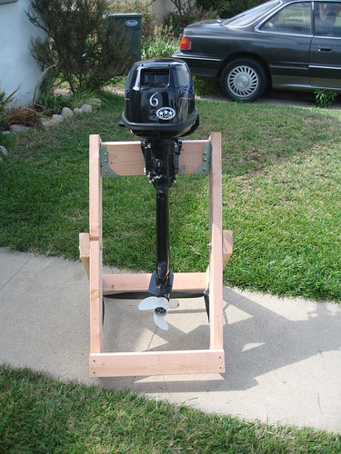 Home Made Outboard Motor Stand Collapsable Home Made