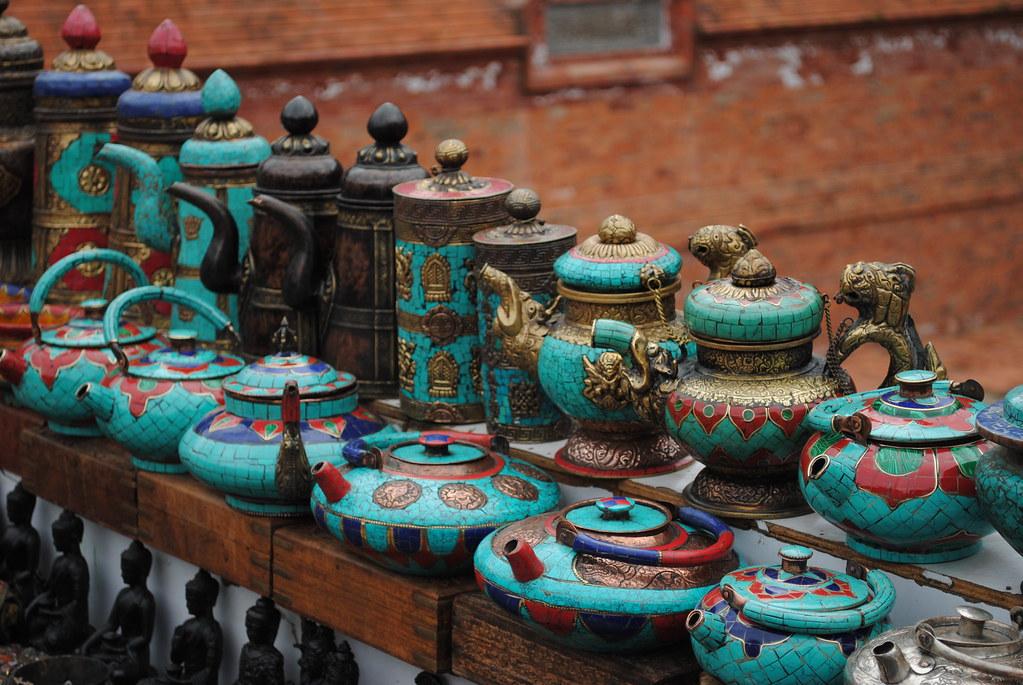 tea pots in Durbar Square.