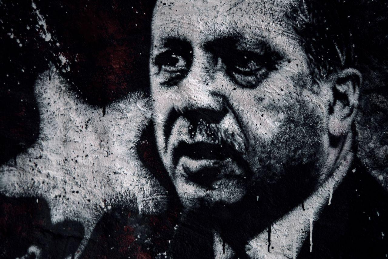 Recep Tayyip Erdoğan, painted portrait DDC_1708