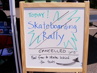 Skateboarding Rally Cancelled | by dan reed!
