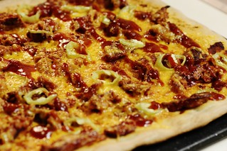 "homemade ""the rustler"" pizza 