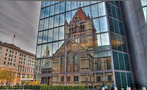 Trinity Church in the City of Boston (reflection off high-rise) HDR | by Steve Flowers
