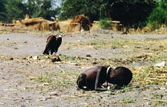 A vulture watches a starving child [1993] | by alexandermalakhov