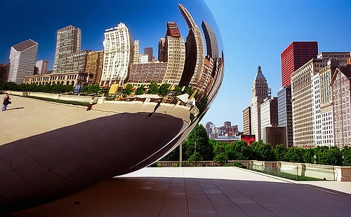 Chicago - Cloud Gate & Skyline | by David Paul Ohmer