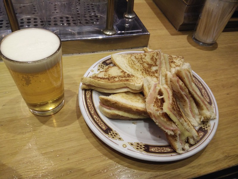 Disappointing ham and cheese sandwiches - WithLocals Madrid Tapas Tour