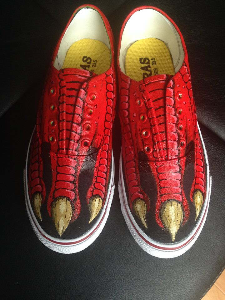 Custom shoe art by Danny P - Dragon Claws