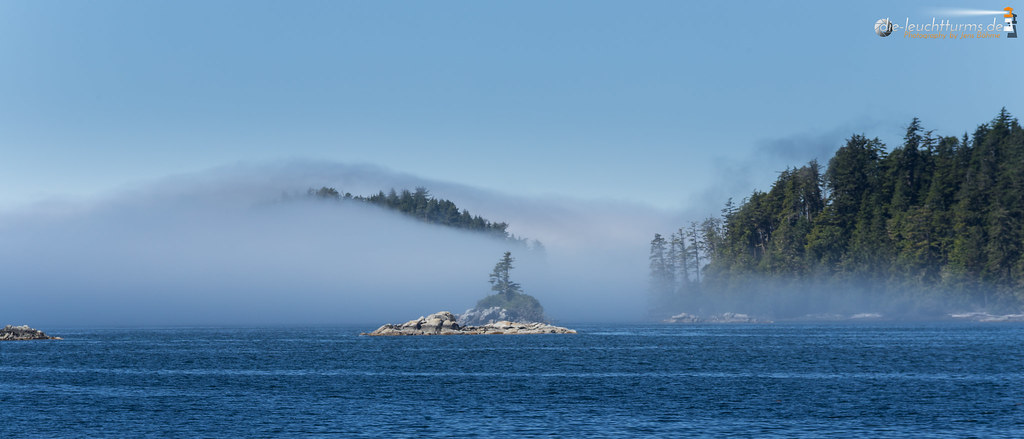 Broken Islands under sea fog