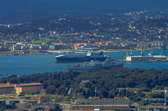 Navy base from Faron tops @ 200mm