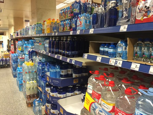 Bottled water in Madrid