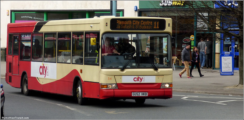 Plymouth Citybus 054 GU52HKB