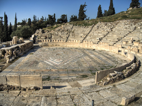 an analysis of the theater of dionysus How to write literary analysis  dionysus's gifts allow humans to let go of their troubles through wine, to let go of their identities through theater,.