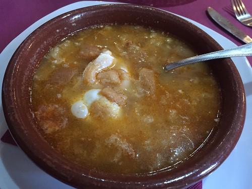 Sopa Castillana / Castillian soup, Restaurant Dragos, Toledo, Spain