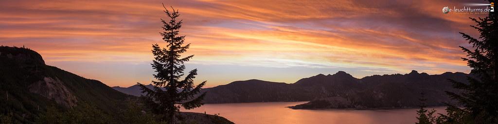 Burning sky above Spirit Lake