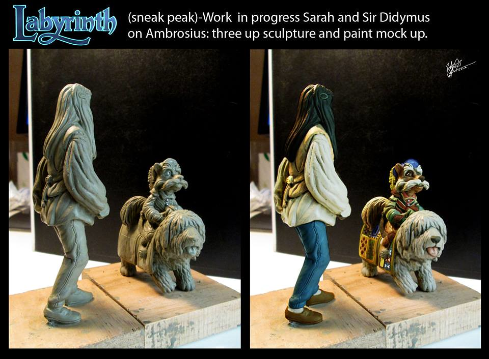 Labyrinth the board game by River Horse - Sarah and Sir Didymus