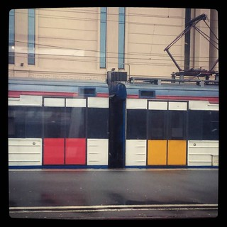 #Mondrian' art inspired #train? #культурнаястолица, #Petersburg