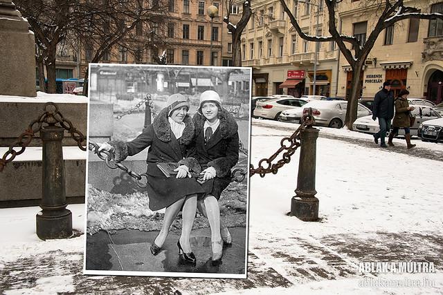 Budapest, V. József nádor tér fortepan_25225