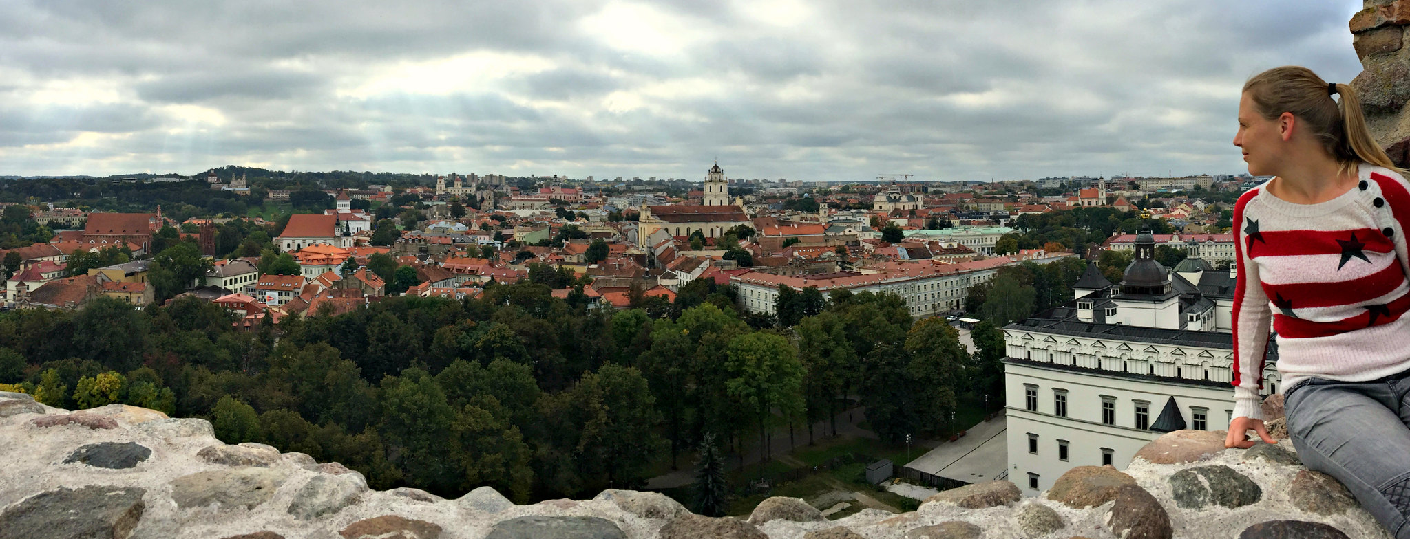 City breaks in Europe; the view over Vilnius