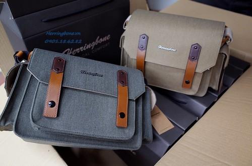 Túi máy ảnh Herringbone - Túi máy ảnh thời trang Vintage