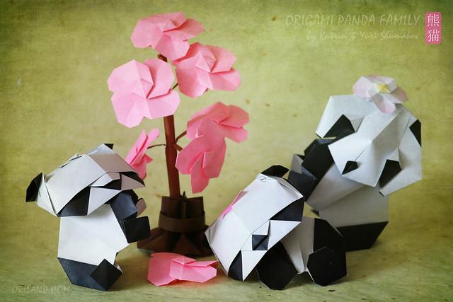 Origami Panda Family!