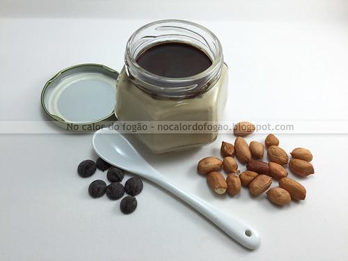 Creme gelado de amendoim