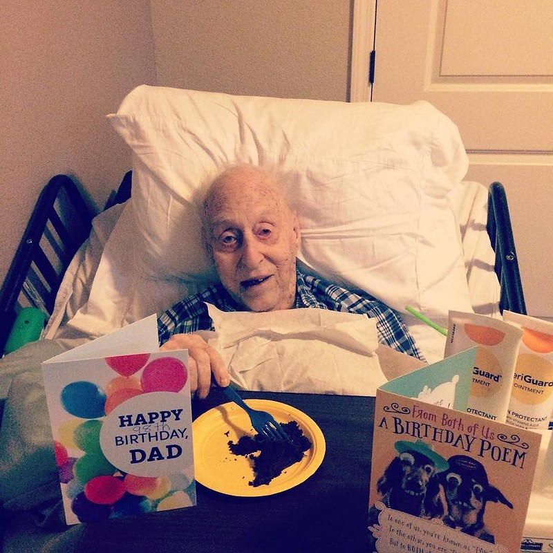 With his health rapidly deteriorating the past several months I honestly didn't think we'd be able to celebrate his birthday but here we are! Happy 98th Birthday to my grandpa my favorite chocolate lover!