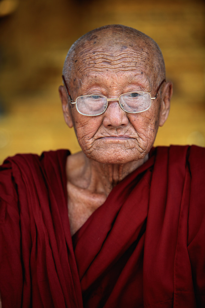 Portrait Of A Venerable Burmese Monk