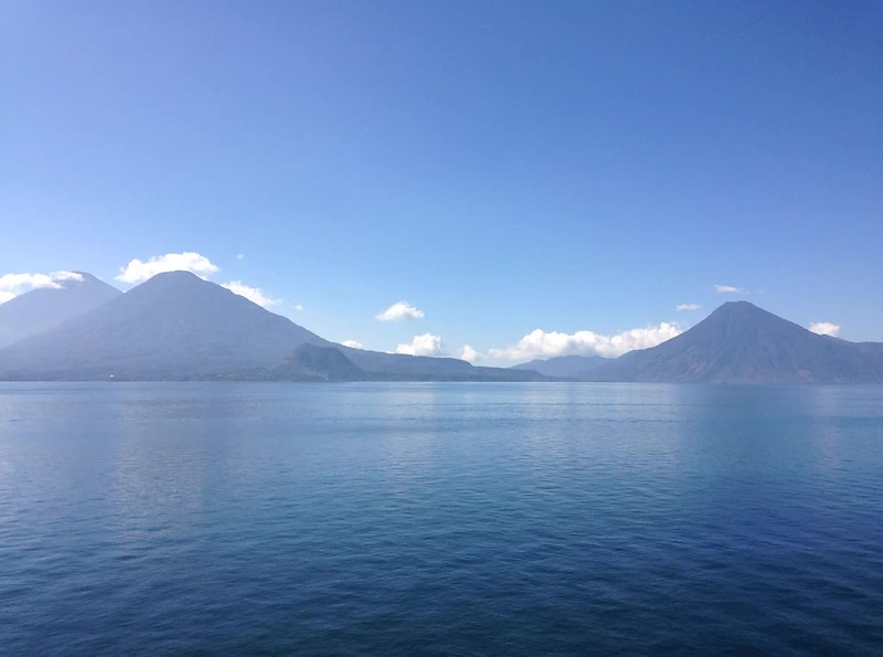 Timelapse of Clouds and Volcanoes on Lake Atitlán, Guatemala