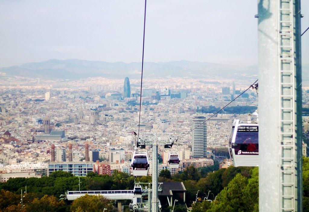 Drawing Dreaming - roteiro para visitar Barcelona - Montjuic - teleférico