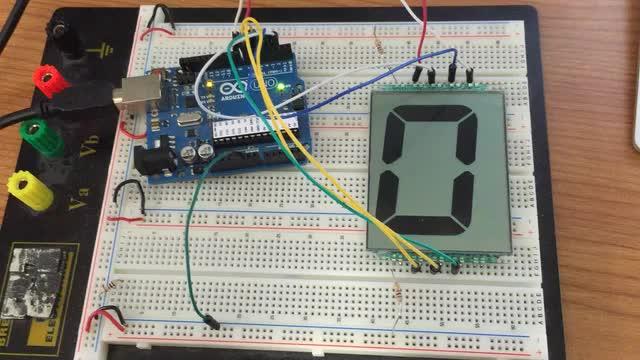 7-segment LCD test