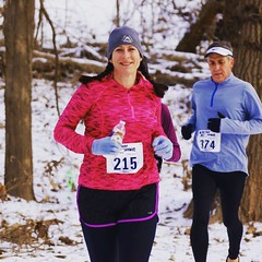 Midway through Saturday's Frozen Feet half marathon and loving the snowy scenery. My first half since last January and one of my slowest, but the running fitness (and enjoyment) is coming back. #running #halfmarathon #frozenfeet