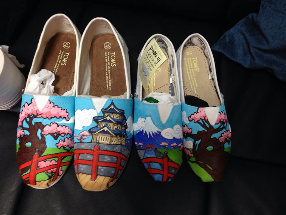 Custom shoe art by Danny P - Japan