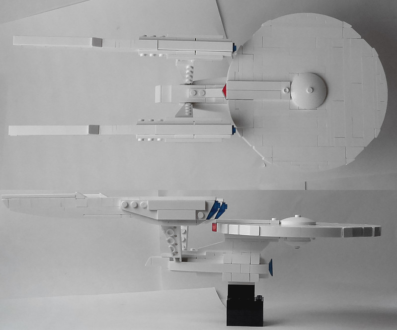 Moc Uss Enterprise With Instructions Lego Sci Fi Eurobricks