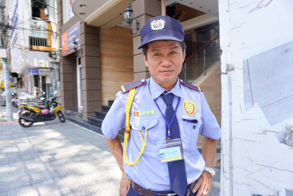 The Hotel Security Guard in Ho Chi Minh City, Vietnam. I Made Sure to Say