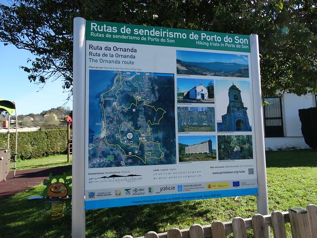 Panel de la ruta de Ornanda