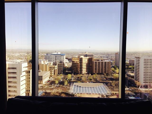 Morning view from Junior Suite #1909 @ Hyatt Regency Albuquerque