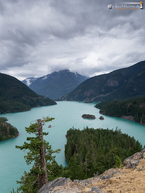 Diablo Lake, as seen from Diablo Lake Overlook