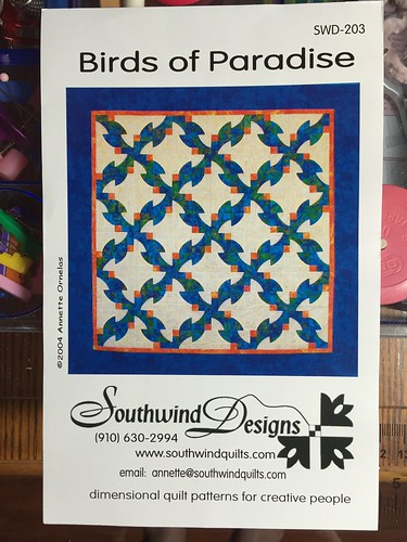 Starting A New Quilt Southwind Designs Bird Of Paradise