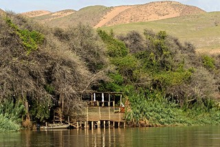 Hauptgebäude Serra Cafema Camp am Kunene River