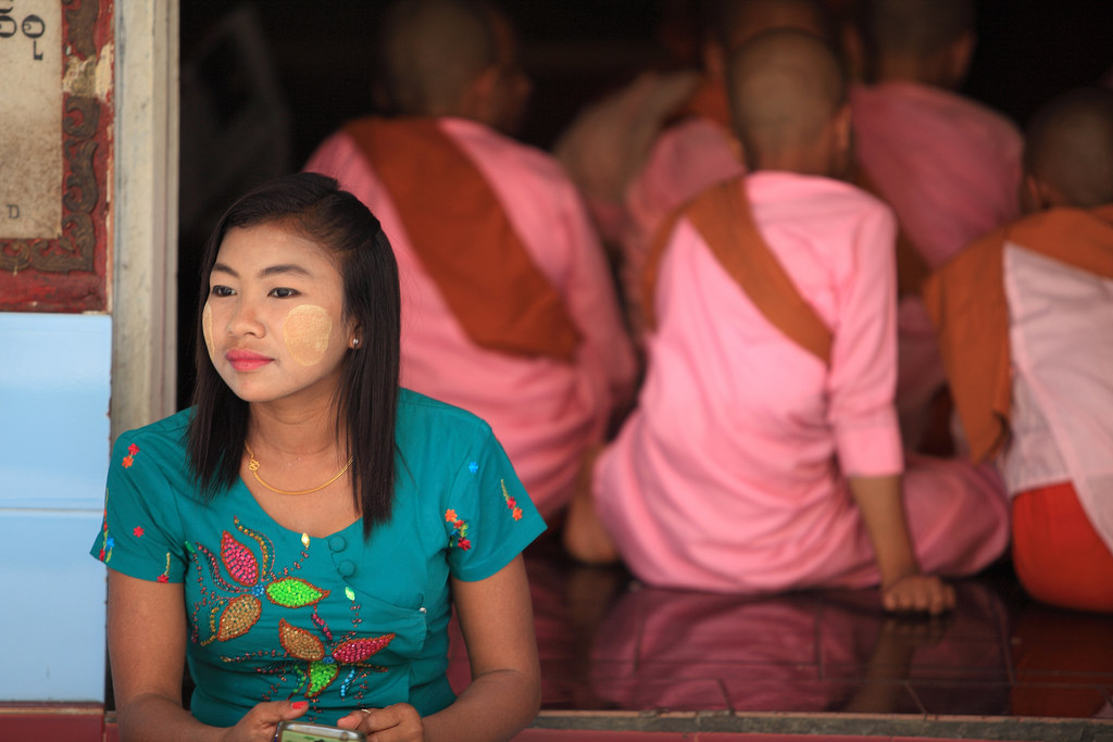 Introspection At The Sule Paya, Burma