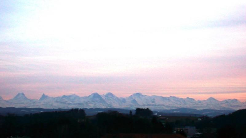 View of Alps from Feldbrunnen