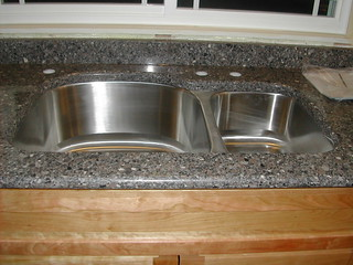 New sink with silestone mountain mist this is a sink for Silestone kitchen sinks