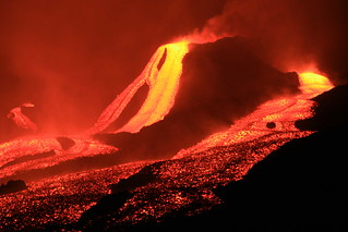 lava flow at night | by Wim Malfait