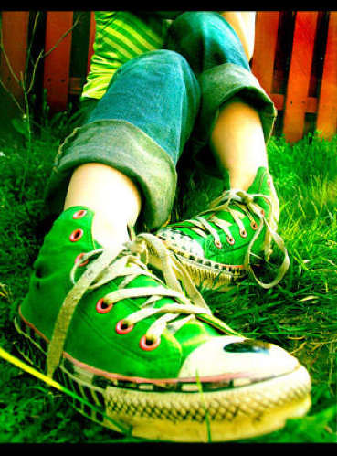 green shoes | by _poseidon_